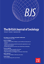 Image result for british journal of sociology